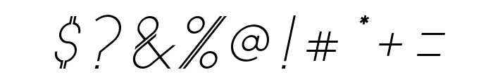 Astrobia Italic Font OTHER CHARS