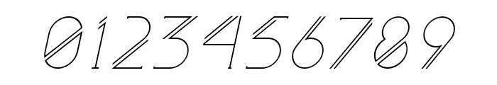 Astrobia Light Italic Font OTHER CHARS