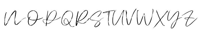 Atkinson Signature  Font UPPERCASE