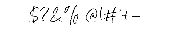AtkinsonSignature Font OTHER CHARS