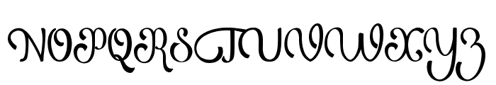 Atlantis Heart Font UPPERCASE