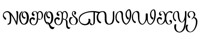 AtlantisHeart Font UPPERCASE