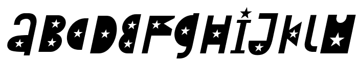 Attracted Tuesday Italic Font UPPERCASE