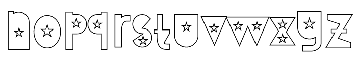 Attracted Tuesday Outline Font LOWERCASE