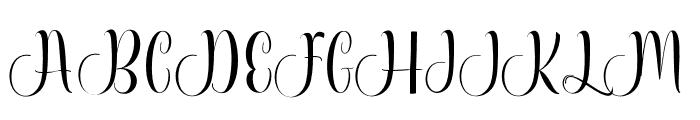 Attycha Font UPPERCASE
