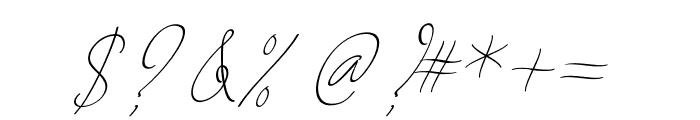AugustScript Font OTHER CHARS