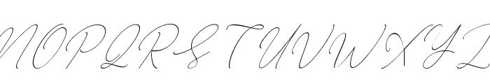 AugustScript Font UPPERCASE