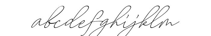 AugustScript Font LOWERCASE