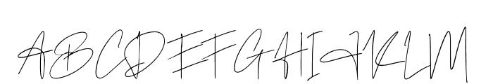 Author Signature Font UPPERCASE