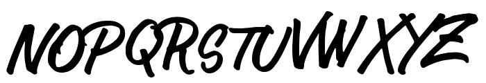 AuthorType Font UPPERCASE