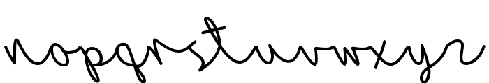AutumnBreeze Font LOWERCASE
