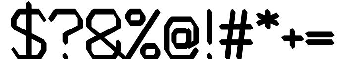 Avenge regular Font OTHER CHARS