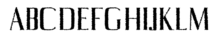 Axell-Distorted Font UPPERCASE