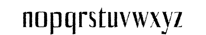 Axell-Distorted Font LOWERCASE