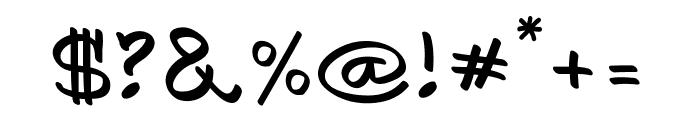 AykaPoTz Font OTHER CHARS