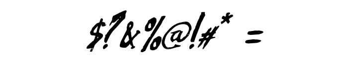 Azra Italic Font OTHER CHARS