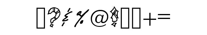 Aztec Legion Regular Font OTHER CHARS