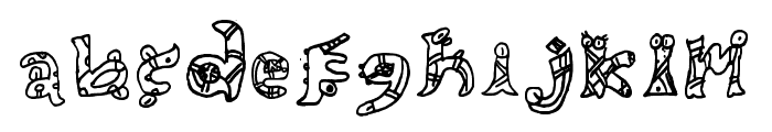 Aztec Legion Regular Font LOWERCASE