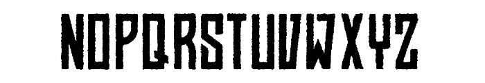 BAHN Pro Rough Font UPPERCASE