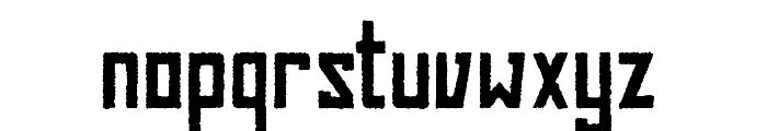 BAHN Pro Rough Font LOWERCASE