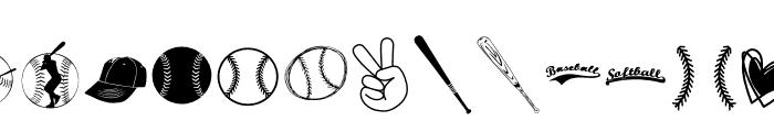 BASEBALL Font LOWERCASE