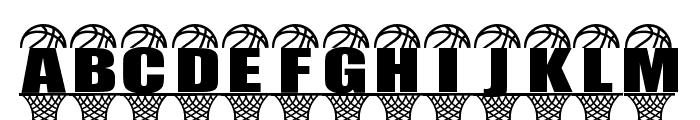 BASKETBALL RIM Font UPPERCASE