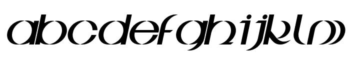 BDJura-Italic Font LOWERCASE
