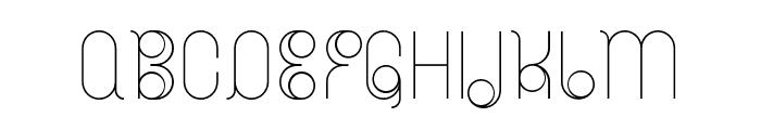 BDRadiogram-Narrow Font UPPERCASE