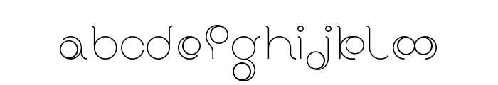 BDRadiogram-Round Font LOWERCASE