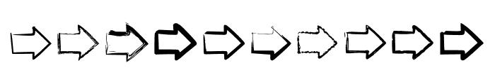 BM Graphics Big Arrows Font OTHER CHARS
