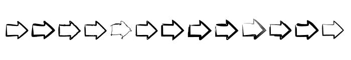BM Graphics Big Arrows Font UPPERCASE