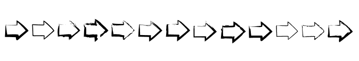 BM Graphics Big Arrows Font LOWERCASE