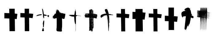 BM Graphics Christian Cross Font UPPERCASE