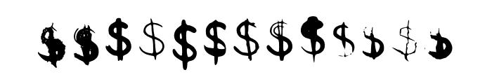 BM Graphics Dollar Symbol Font UPPERCASE