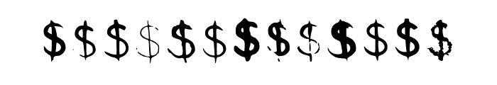 BM Graphics Dollar Symbol Font LOWERCASE