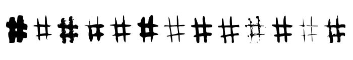 BM Graphics Hashtags Font UPPERCASE