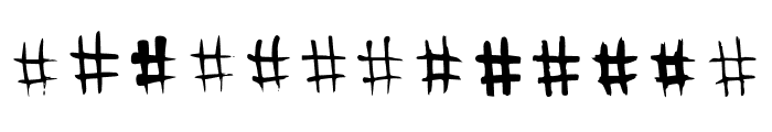 BM Graphics Hashtags Font LOWERCASE
