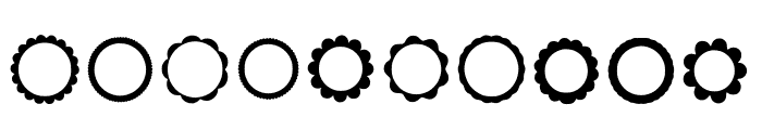 BM Graphics - Rosettes Font OTHER CHARS