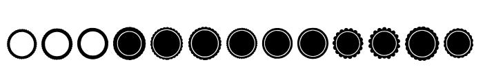 BM Graphics - Rosettes Font UPPERCASE