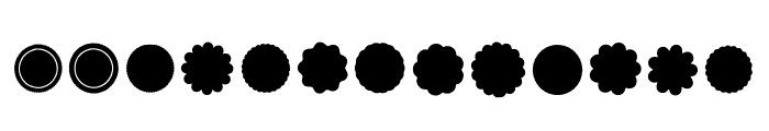 BM Graphics - Rosettes Font LOWERCASE