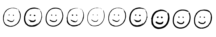 BM Graphics Smilies Font OTHER CHARS