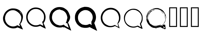 BM Graphics Speech Bubble Font OTHER CHARS