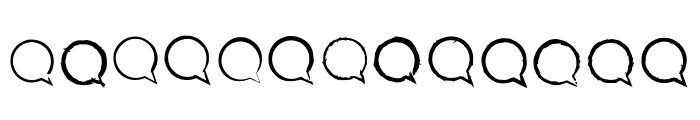 BM Graphics Speech Bubble Font UPPERCASE