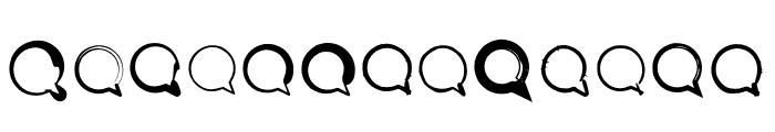 BM Graphics Speech Bubble Font LOWERCASE