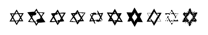 BM Graphics Star Of David Font OTHER CHARS