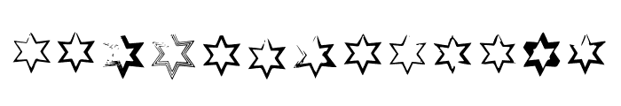 BM Stars Hexagon Font LOWERCASE