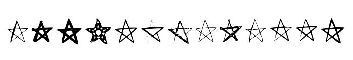 BM Stars Pentagram Font UPPERCASE