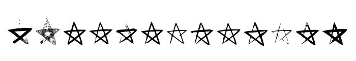 BM Stars Pentagram Font LOWERCASE