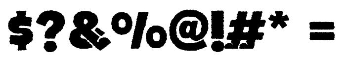 BOTOTOROUGH Font OTHER CHARS