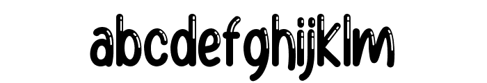 Baby Balloon Group Font LOWERCASE